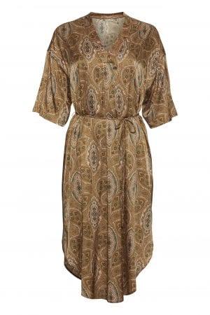 PBO GROUP – Kjole med print i silke