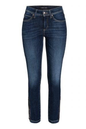 "CAMBIO – Bukser ""jeans"" i hellang med lynlås på ben"