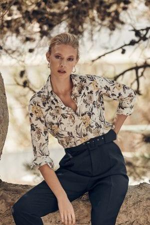 STENSTRÖMS – Skjorte med gule blomster