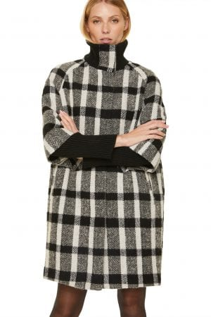 COMMA – Frakke i tern med strik