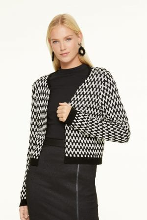 COMMA – Cardigan/Bolero sort/hvid