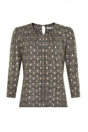 "IN FRONT – Bluse med print ""Guld"""