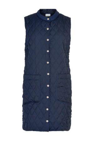 IN FRONT – Lang quiltet vest