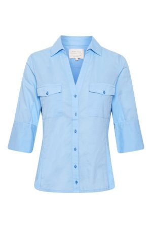 Skjorte med 3/4 ærme