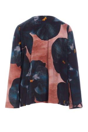 BITTE KAI RAND – Bluse med stor blomst