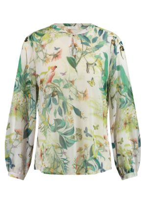 GERRY WEBER – Skjortebluse i chiffon med print