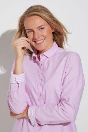 """ETERNA – Skjorte """"Oxford"""" ensfarvet"""
