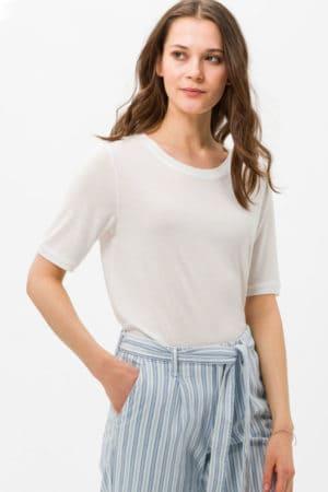 """BRAX – T-shirts """"Colletta"""" med rundhals"""