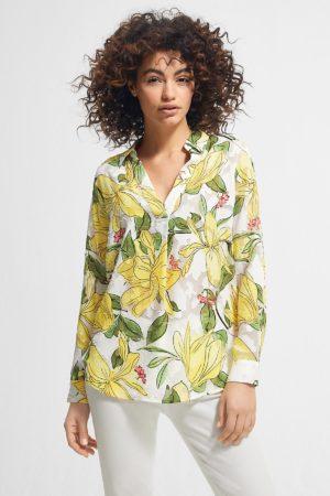 COMMA – Skjorte med blomster motiv