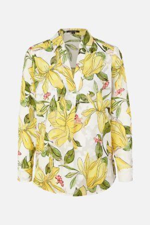 Skjorte med blomster motiv