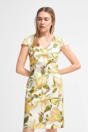 COMMA – Kjole med blomster motiv