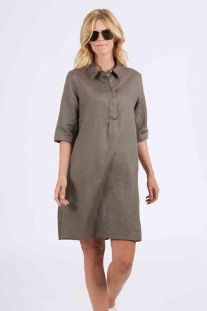 ANGOOR – Kjole med skjortekrave