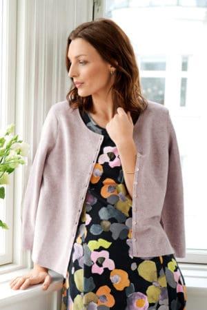 MANSTED – Kjole med blomster print