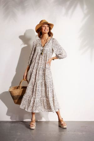 IN FRONT – Kjole i lang model