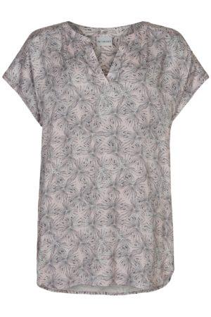 IN FRONT – Bluse i viskose med print