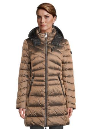 GIL BRET – Dun frakke med hætte