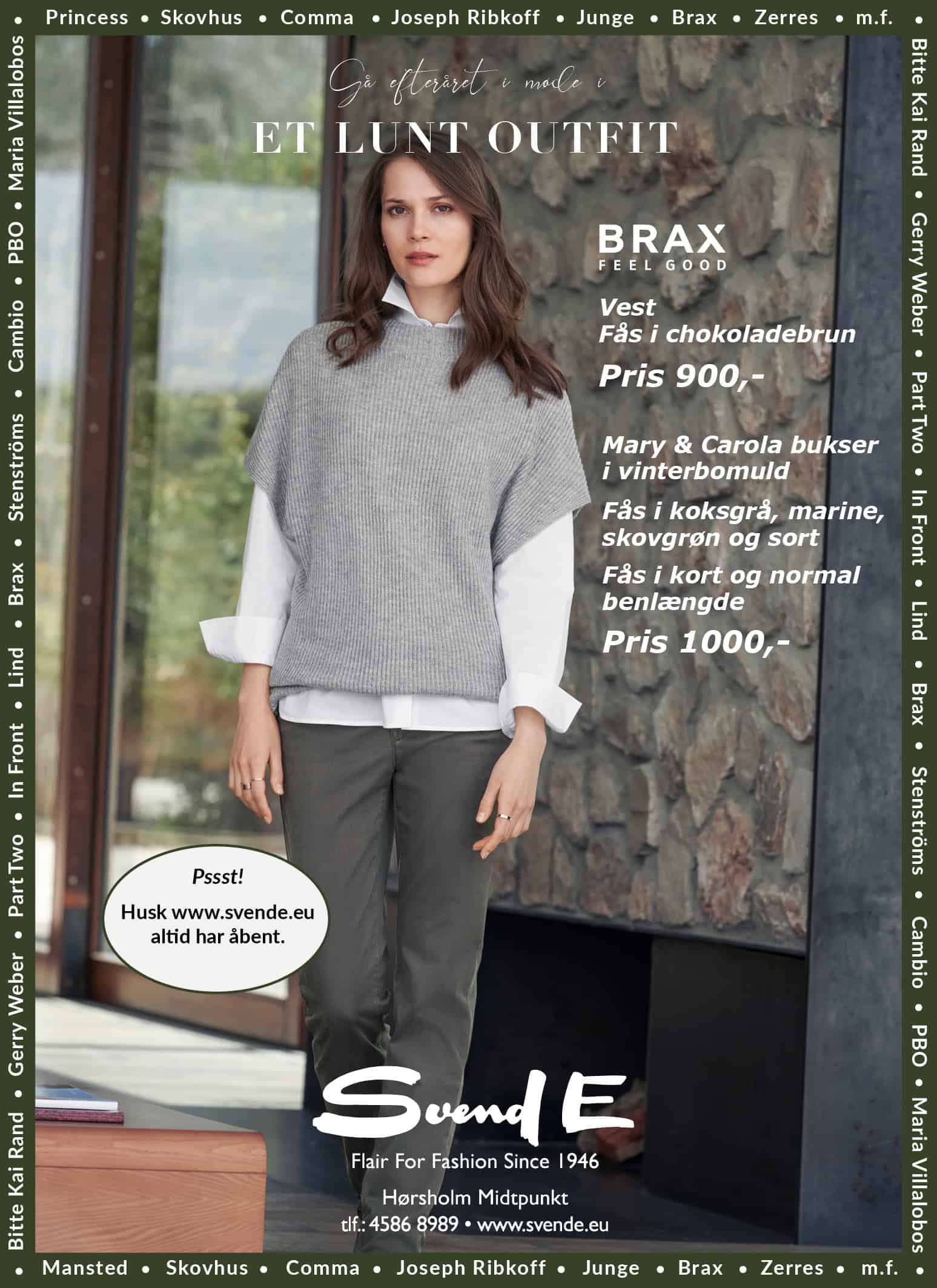 Gå efteråret i møde i et lunt outfit fra Brax 🍂
